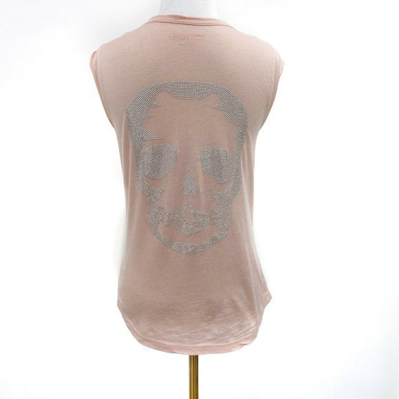 NEW Zadig & Voltaire Brooklyn Skull Shell Top XS